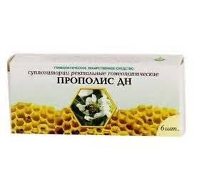 Наиболее доступный рецептурный вариант свечей с прополисом для лечения простатита – ректальные суппозитории Прополис ДН