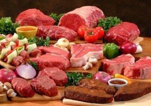 Мясо красного цвета (говядина и баранина)