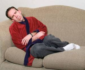 Обезвоживание организма – частая диарея, рвота.