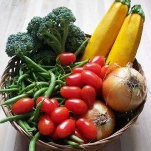 Употребление большого количества овощей желтого, красного и зеленого цвета
